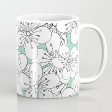 Cherry Blossom With Mint Blocks - In Memory of Mackenzie Mug