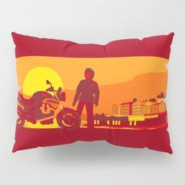 Bikers sunset pause Pillow Sham