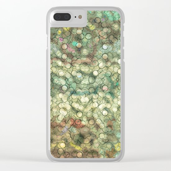Abstract circle #4 Clear iPhone Case