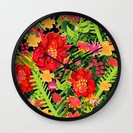 Floral Frida Wall Clock