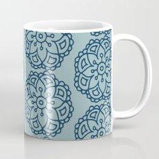 Navy blue lace floral Mug