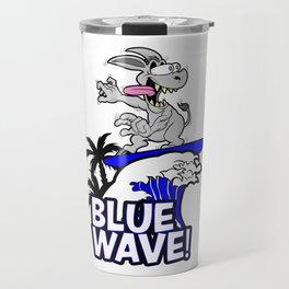 Blue Wave Design for Liberal Democrat 2018 Voters Travel Mug