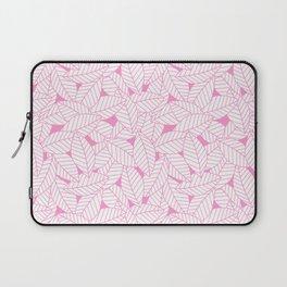 Leaves in Flamingo Laptop Sleeve