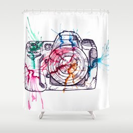 Photographer insecurity Shower Curtain