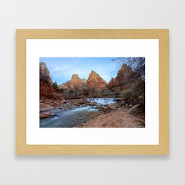 Virgin_River Falls - Zion Court Framed Art Print