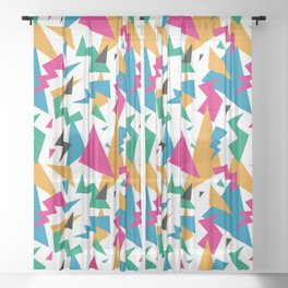 octopus party Sheer Curtain
