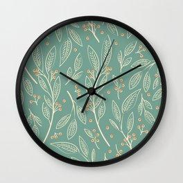 Flora Green 006 Wall Clock