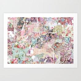 Minneapolis map - Landscape Art Print