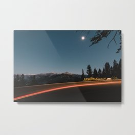 Mountains in the Moonlight Metal Print