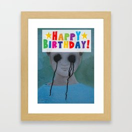 Happy Birthday Mummy Framed Art Print