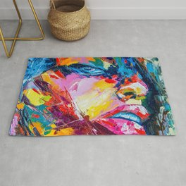 The face Rug