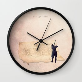 The signer Wall Clock