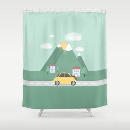 Little Yellow Car Shower Curtain