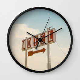 ABANDONED DESERT MOTEL Wall Clock
