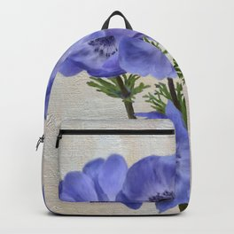 Pretty Periwinkle Poppies Backpack