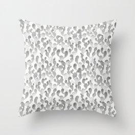 GRAY TRYPOPHOBIA, cactus pattern by Frank-Joseph Throw Pillow