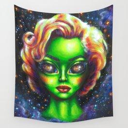 Iconic Alien Women: Marilyn Wall Tapestry