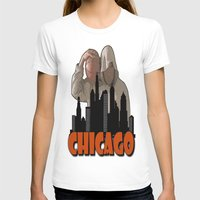 sports T-shirts featuring CHICAGO SPORTS  by Robleedesigns