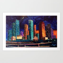 Expression Houston Art Print
