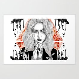 Russian Dark Girl Art Print