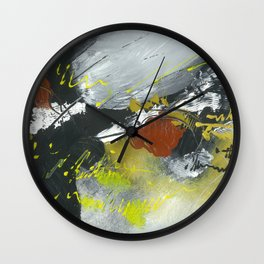 Colours of my mind by Australian Artist Vidy Potdar Wall Clock