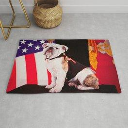 Bulldog Navy Official Mascot Dog Rug