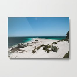 White sand beach in Rottnest Island Metal Print