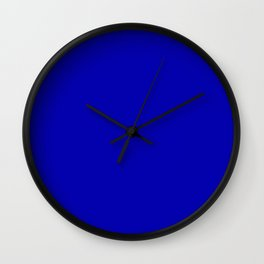 Monochrom 3 blue Wall Clock