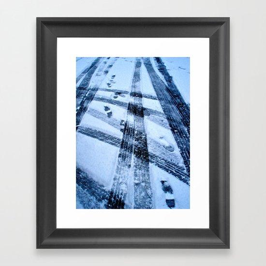 Winter Path Framed Art Print
