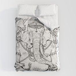Ganesha Lineart Comforters