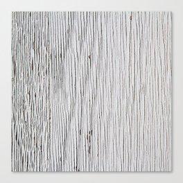 Urban Wood - White Cracked Canvas Print
