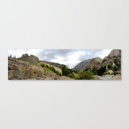 View Upstream from the Eureka Mine on a Stormy Day Canvas Print