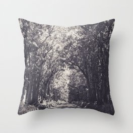 Tunnel of Trees - Kauai, Hawaii Throw Pillow