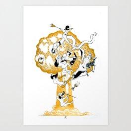The Conqueror Wurm Art Print