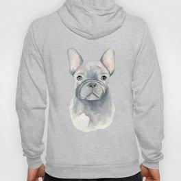 Gray Blue French Bulldog Hoody