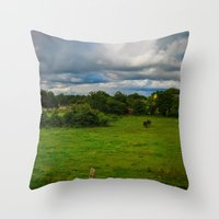 farm Throw Pillows featuring Farm by Ashley Hirst Photography