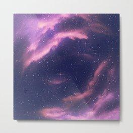 Starry nebula clouds Metal Print
