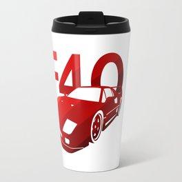 Ferrari F40 - classic red - Travel Mug