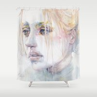 agnes Shower Curtains featuring imaginary illness by agnes-cecile