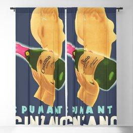 1951 Cinzano Spumanti Sparkling Italian Aperitif Advertising Poster Blackout Curtain