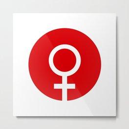 Female Symbol Metal Print
