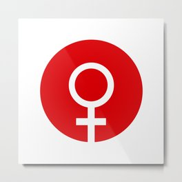 Female Symbol Metal Print