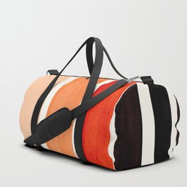Burnt Sienna Minimalist Mid Century Modern Color Fields Ombre Watercolor Staggered Squares Duffle Bag