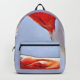 Artistic Duck Black Outline Art Backpack