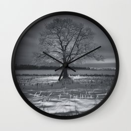 Coated in Winter Wall Clock