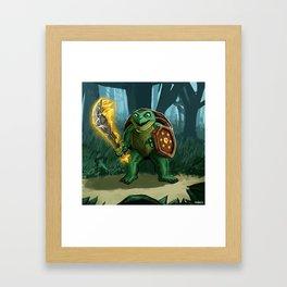 Turtle Paladin Framed Art Print