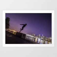 Runner at Night Art Print