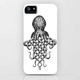 Knotopus, the Celtic Knot Octopus iPhone Case