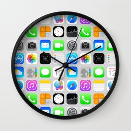 Phone Apps (Flat design) Wall Clock