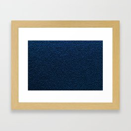 Dark Blue Fleecy Material Texture Framed Art Print